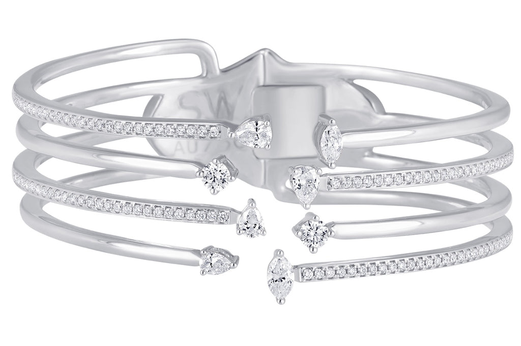Purity 8 Diamond Bangle Cuff