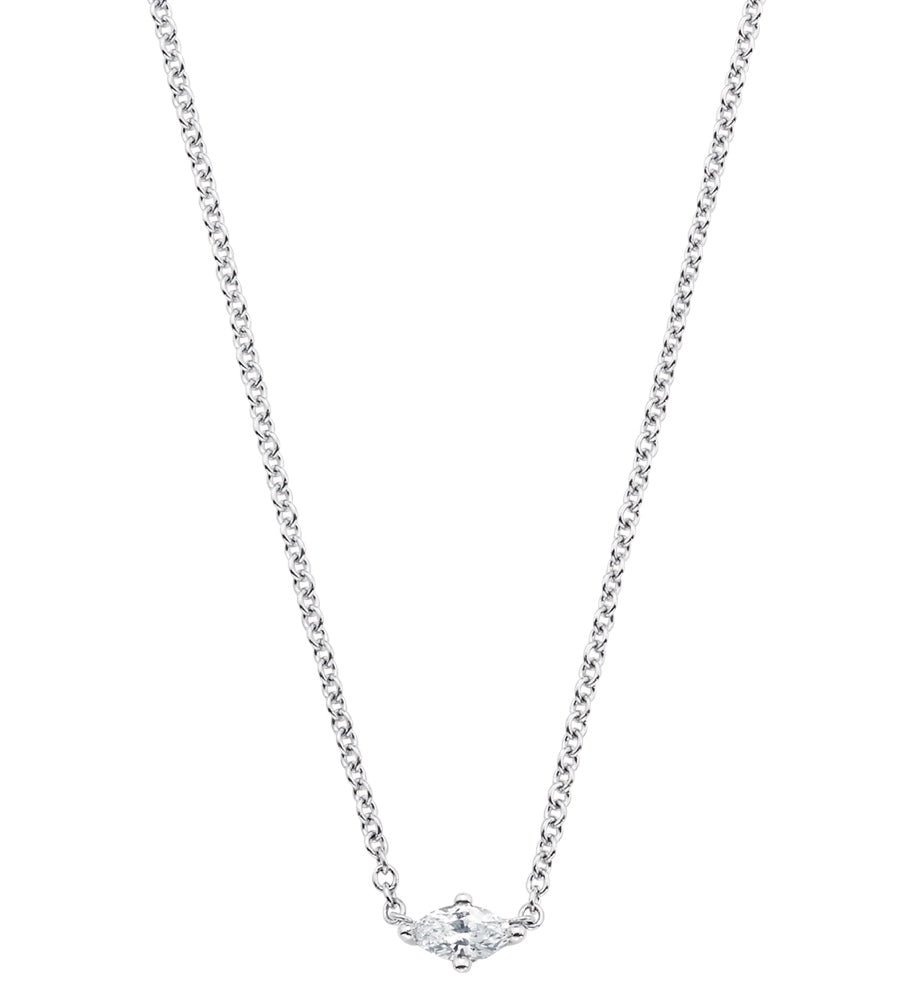 Dujour Marquis Single Diamond Necklace