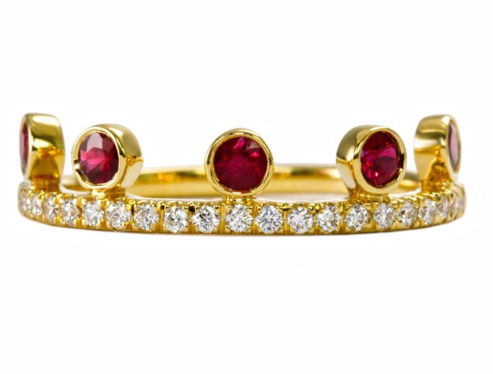 Ruby Crown Ring