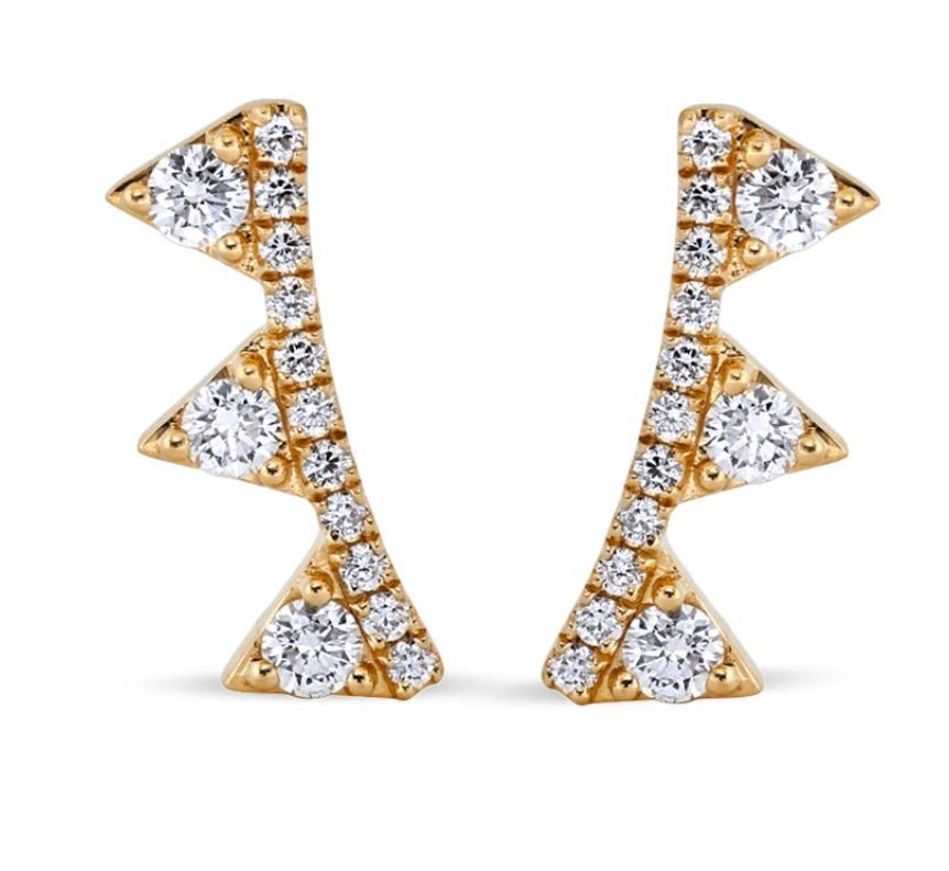 White Diamond Jaws Earrings