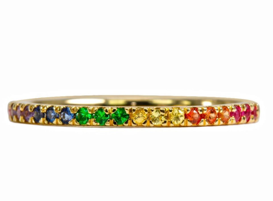 Rainbow Stack Band Ring