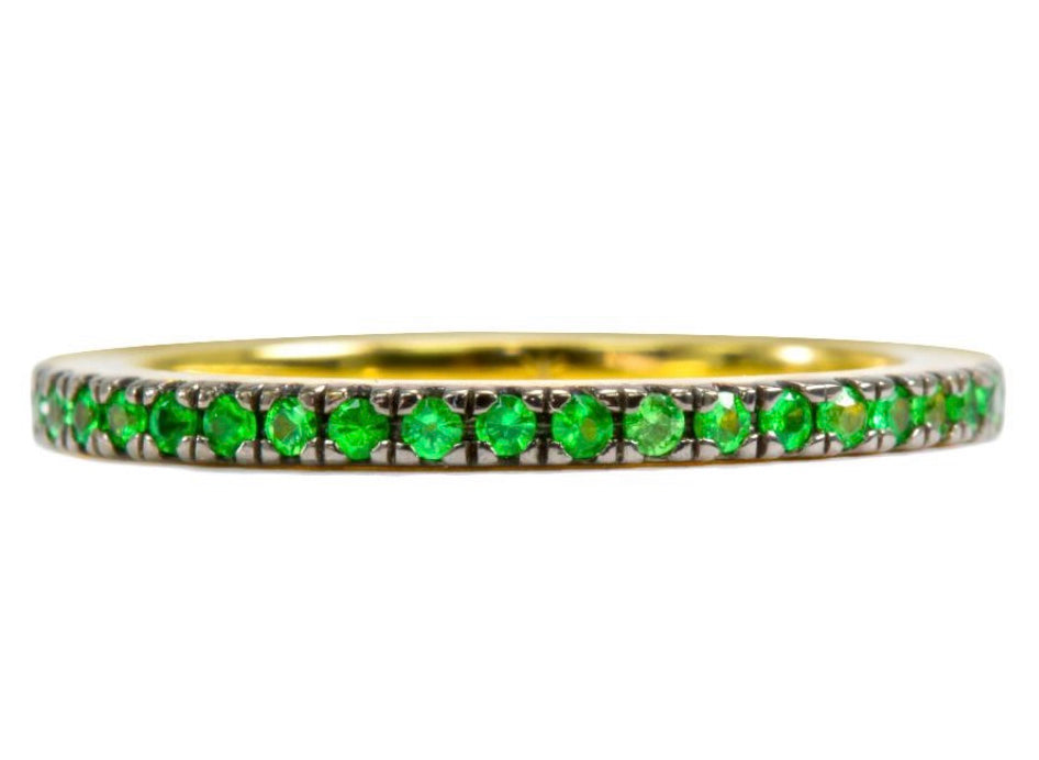 Tsavorite Stack Thread Band Ring