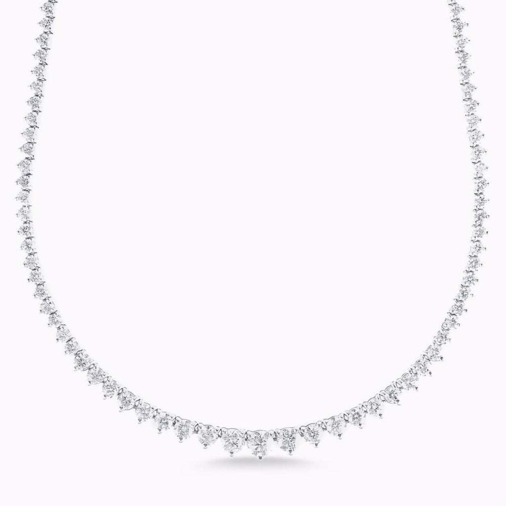 6.50ct Graduated Tennis Necklace