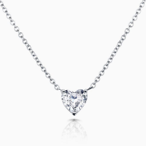 Floating Diamond Heart 1.00 Carat