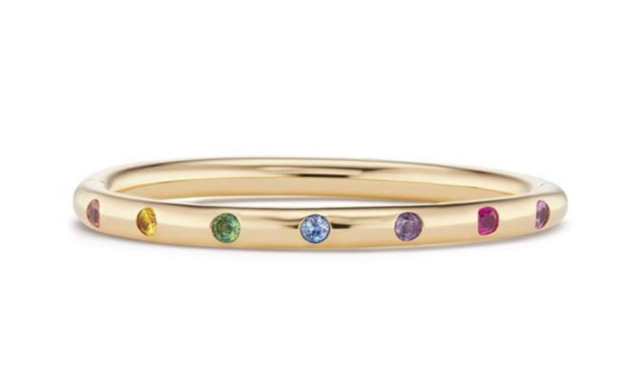 Narrow Bangle with Multi Sapphires