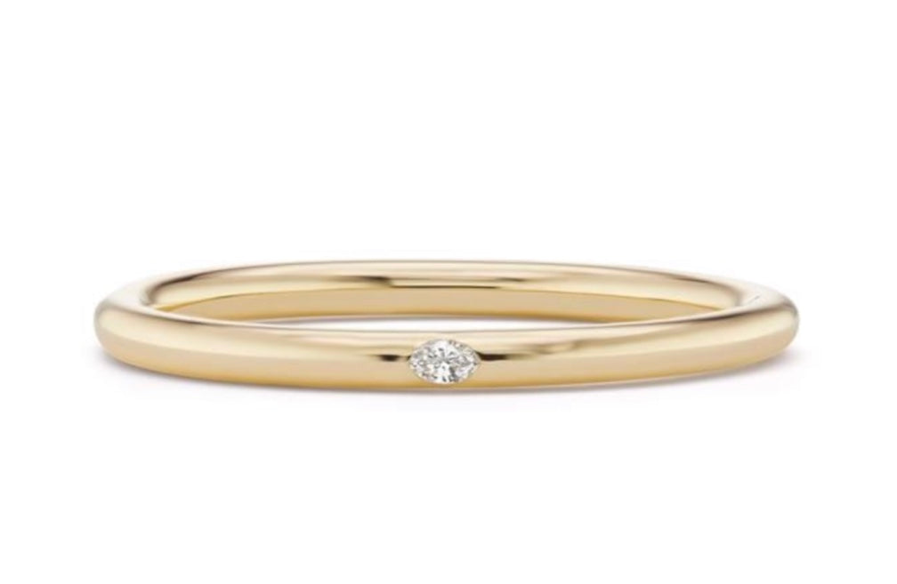 Narrow Bangle with Marquise Cut Diamond