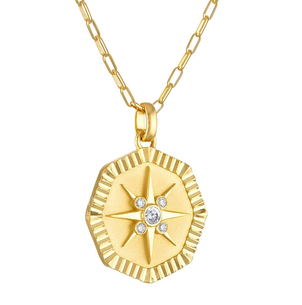 Octagon Star Pendant with Diamonds