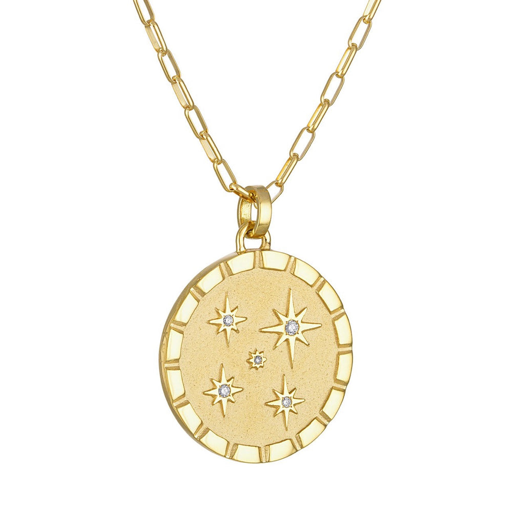 Multi-Star Pendant with Diamonds