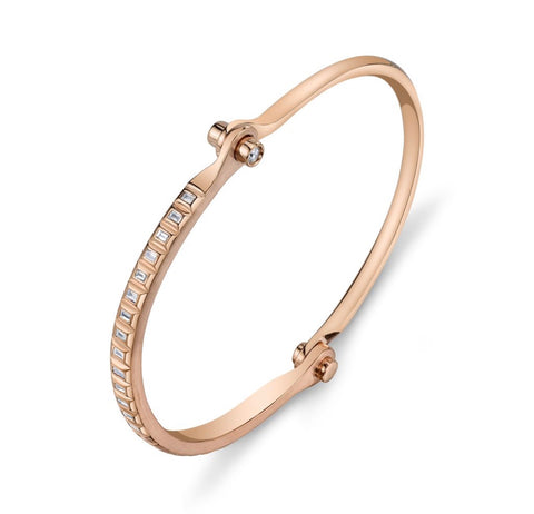 Baguette Handcuff in Rose Gold