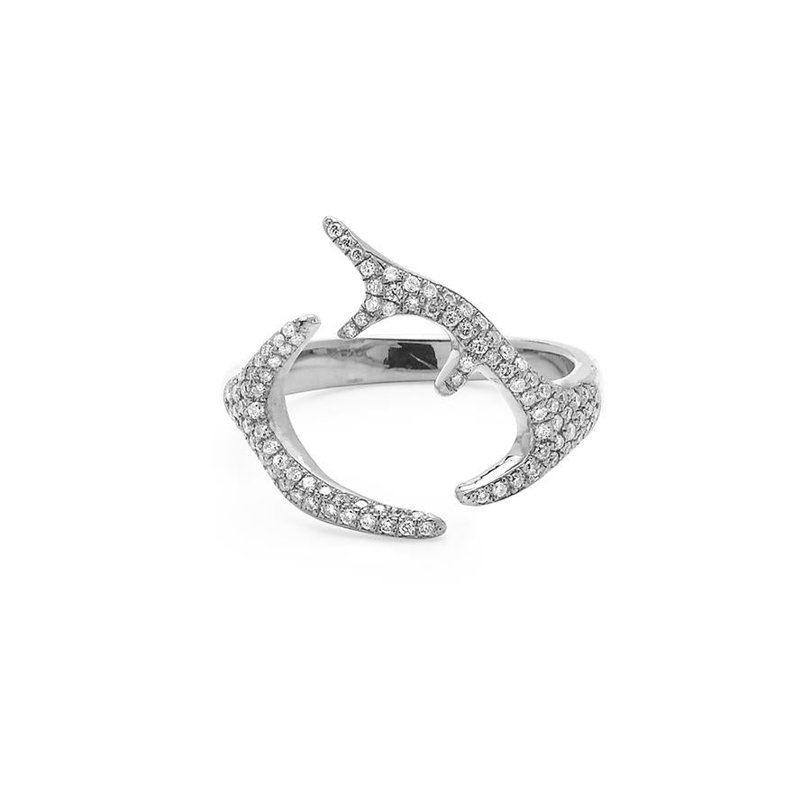 Adorned Small Horns Ring