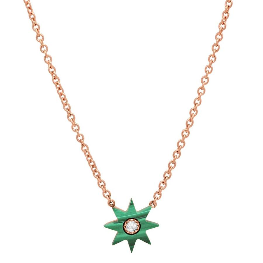 Twinkle Star Malachite Necklace