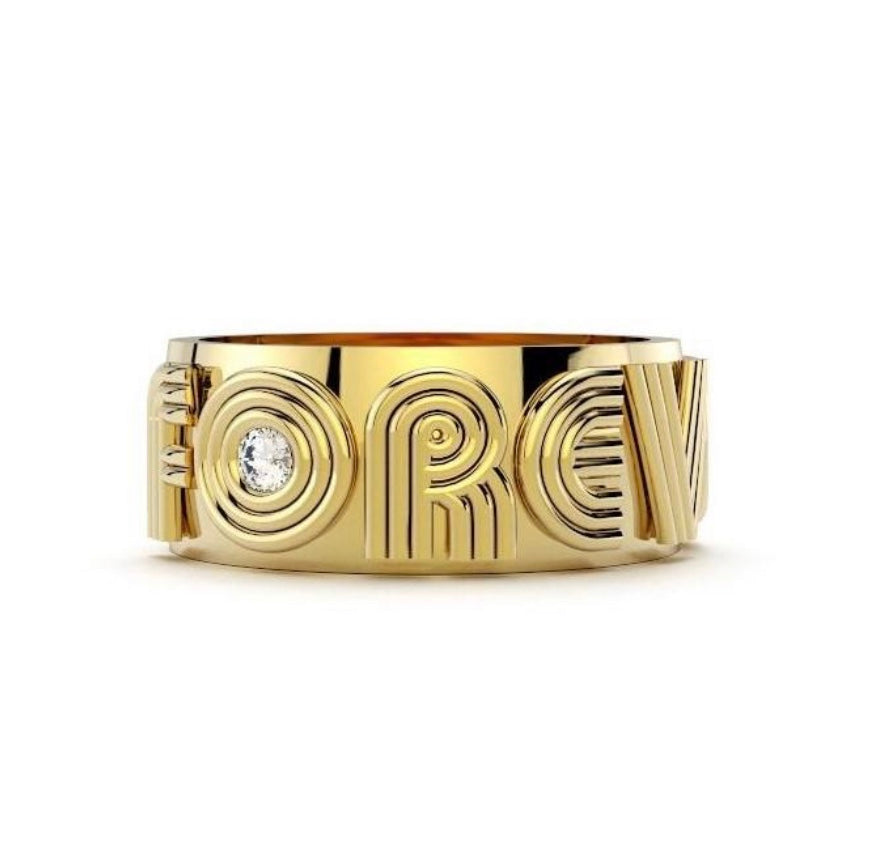 FOREVER Band in Gold