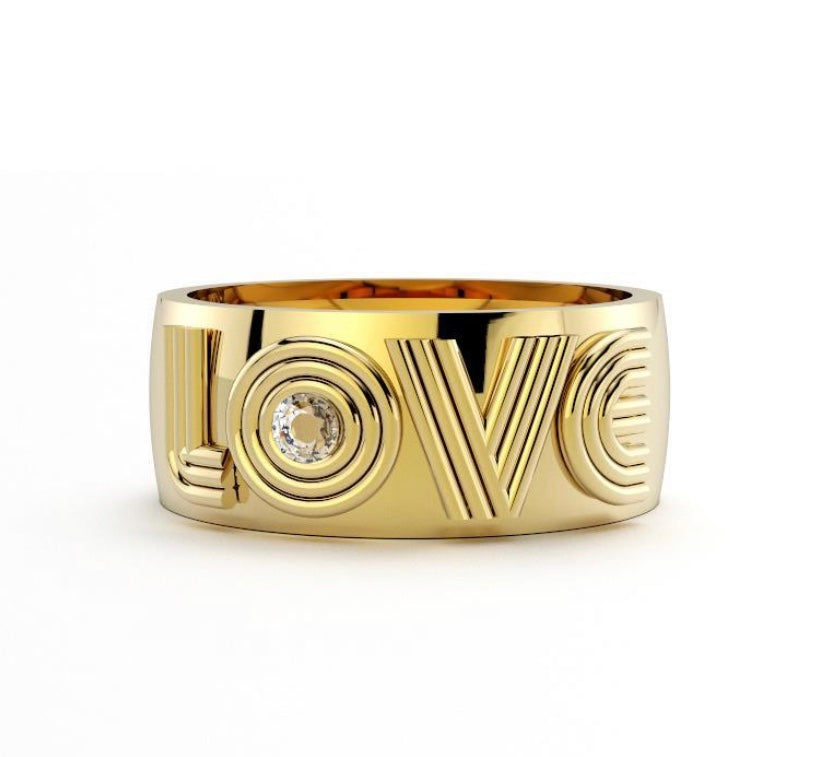LOVE Band in Gold
