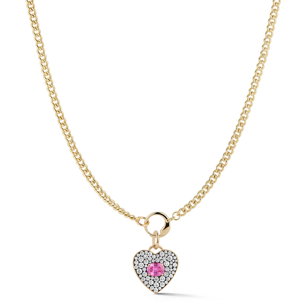 Toujours Oval Pink Sapphire Necklace