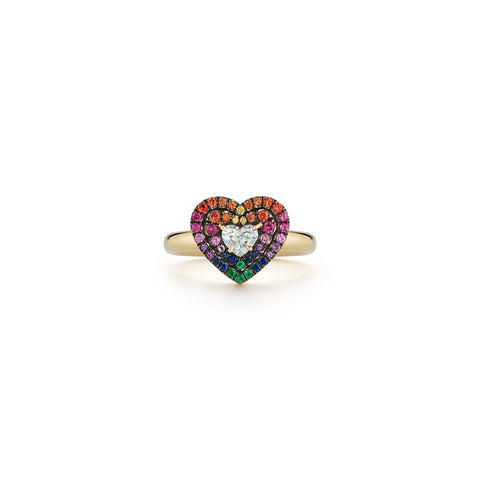 Privé Rainbow Heart Ring
