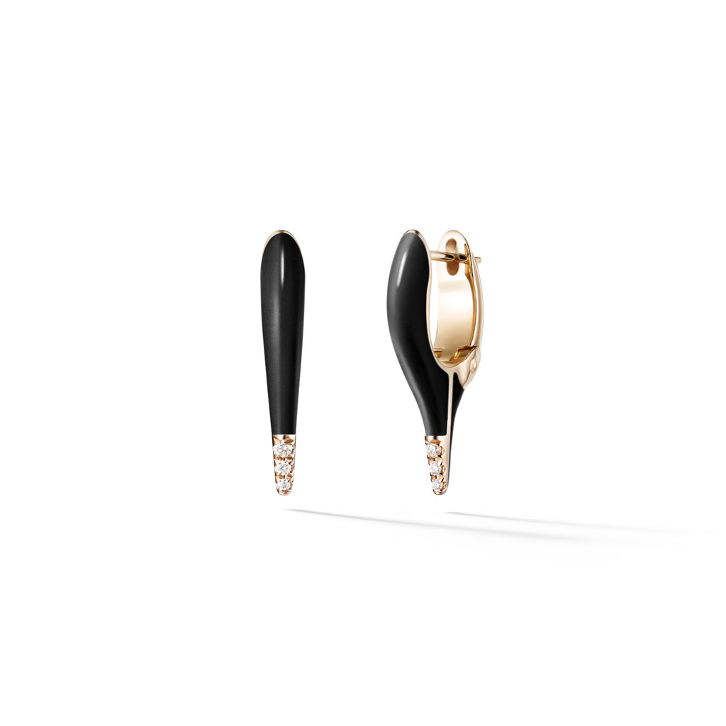 Enamel and Diamond Lola Needle Earring Mini