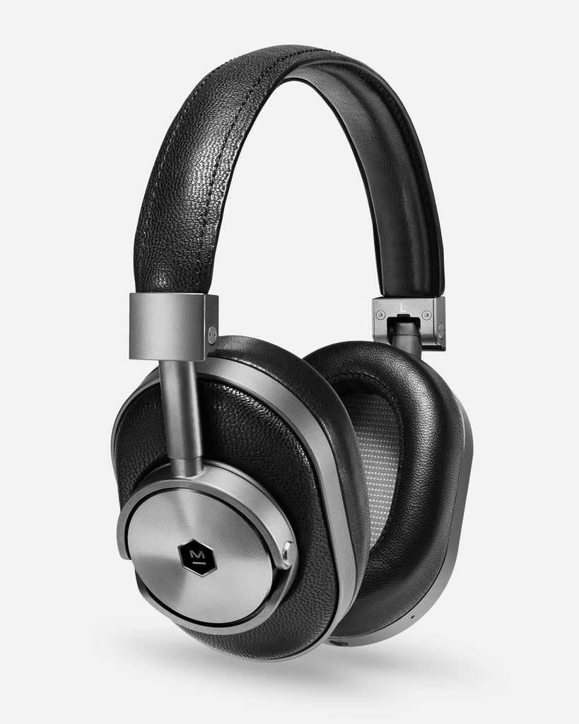 MW60 Wireless Over Ear Headphones - Black Leather/Gunmetal