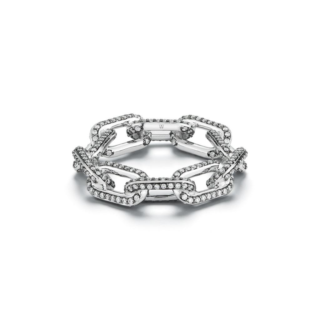 Saxon Chain Link Diamond Ring
