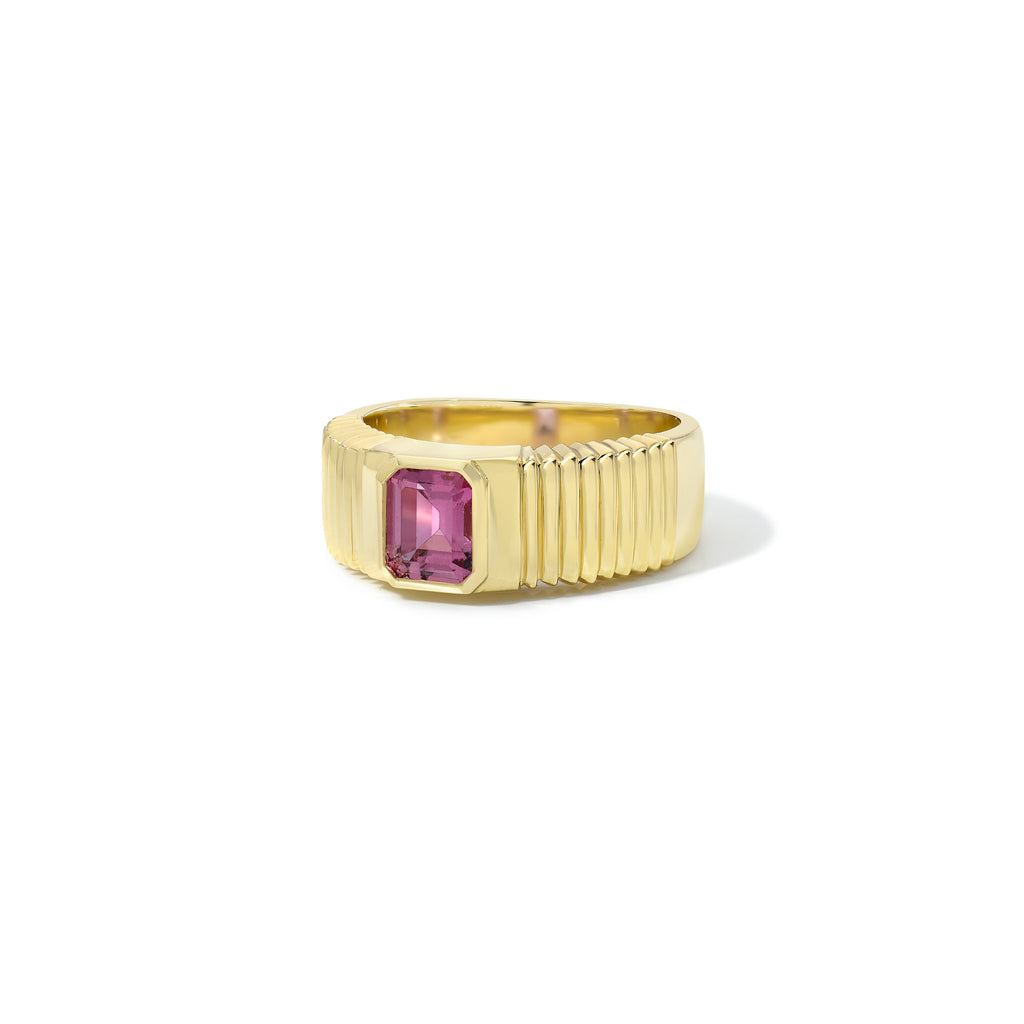 Pleated Cigar Band - Pink