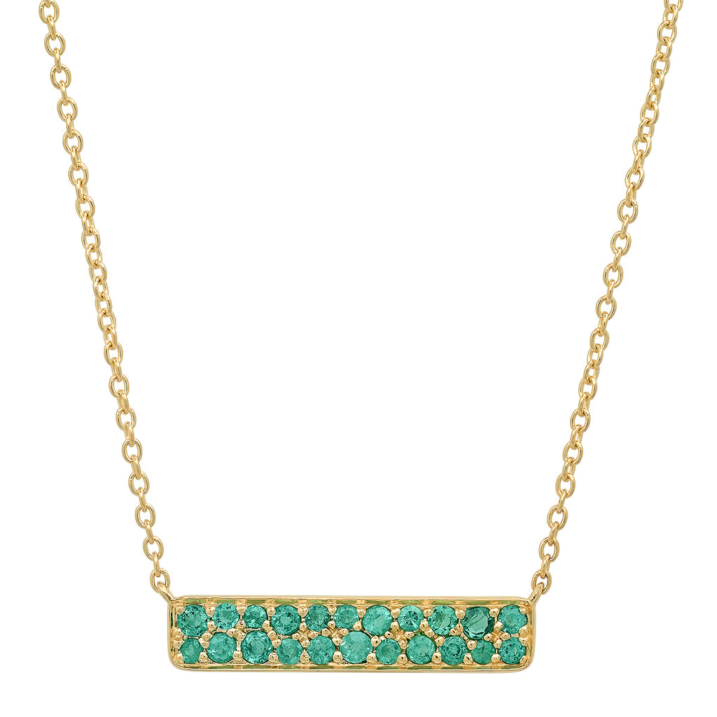 Emerald Staple Necklace