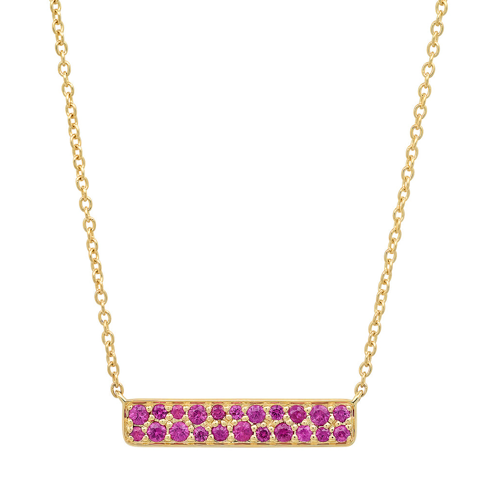 Ruby Staple Necklace