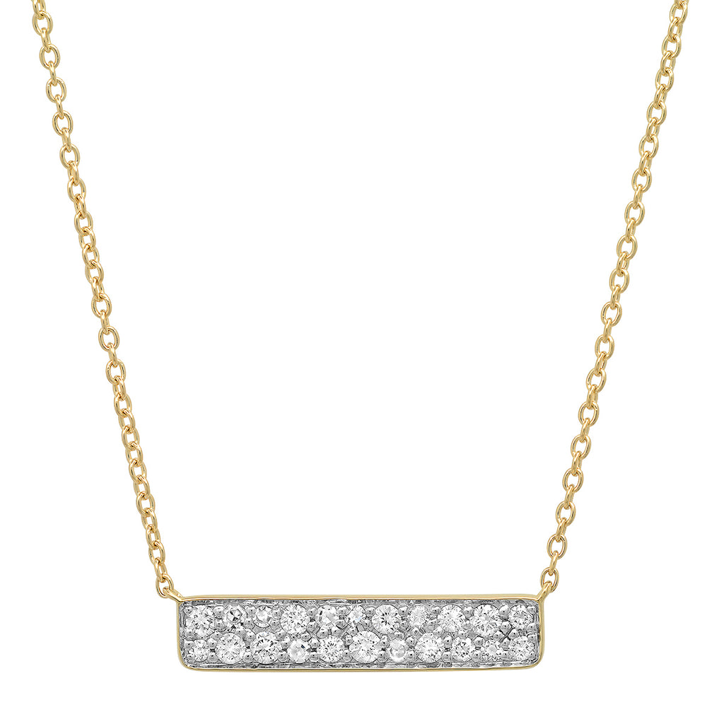 Diamond Staple Necklace