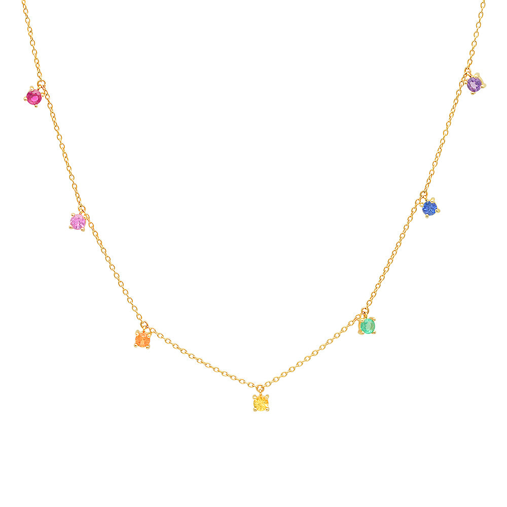 Rainbow Charm Necklace