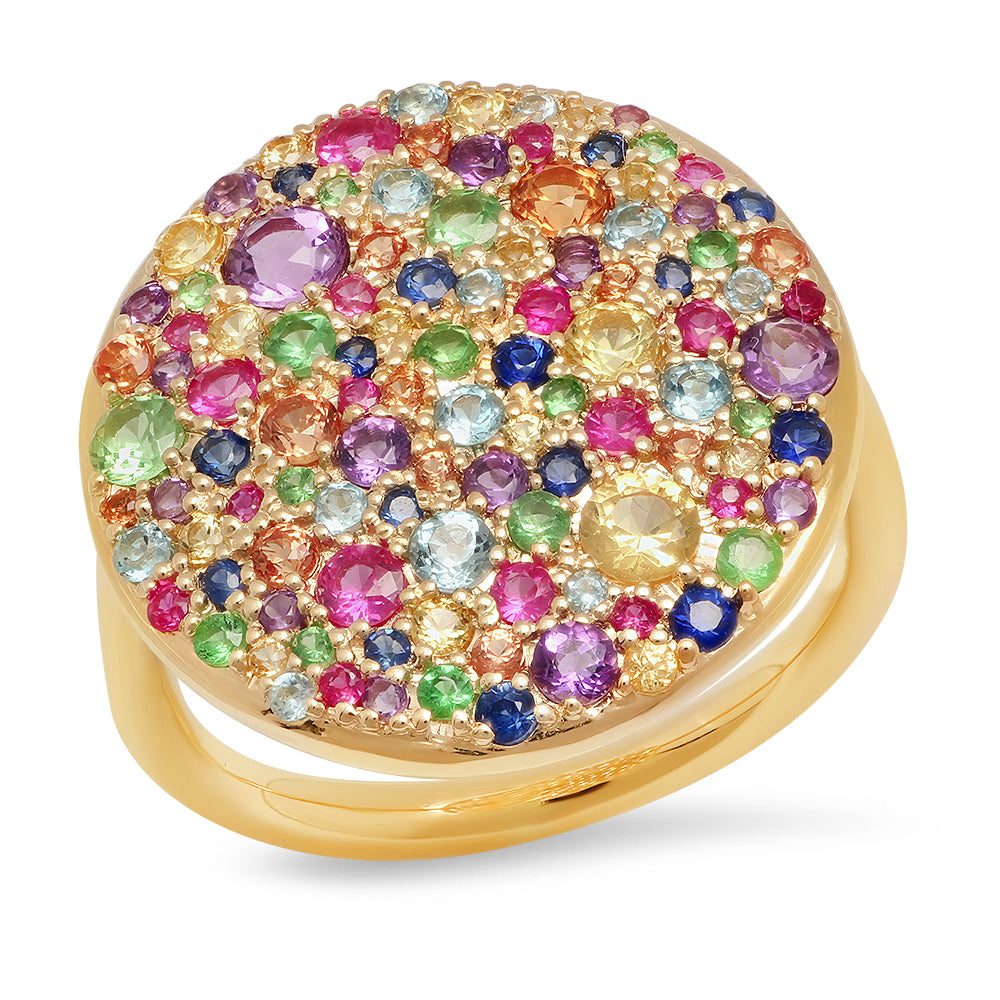 Multi Colored Cluster Ring