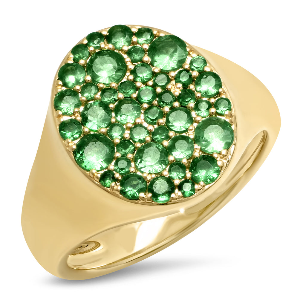 Emerald Pinky Signet Ring