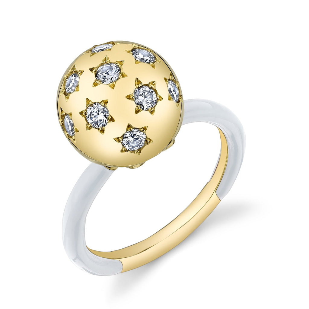 Ethel Diamond Enamel Starburst Ring