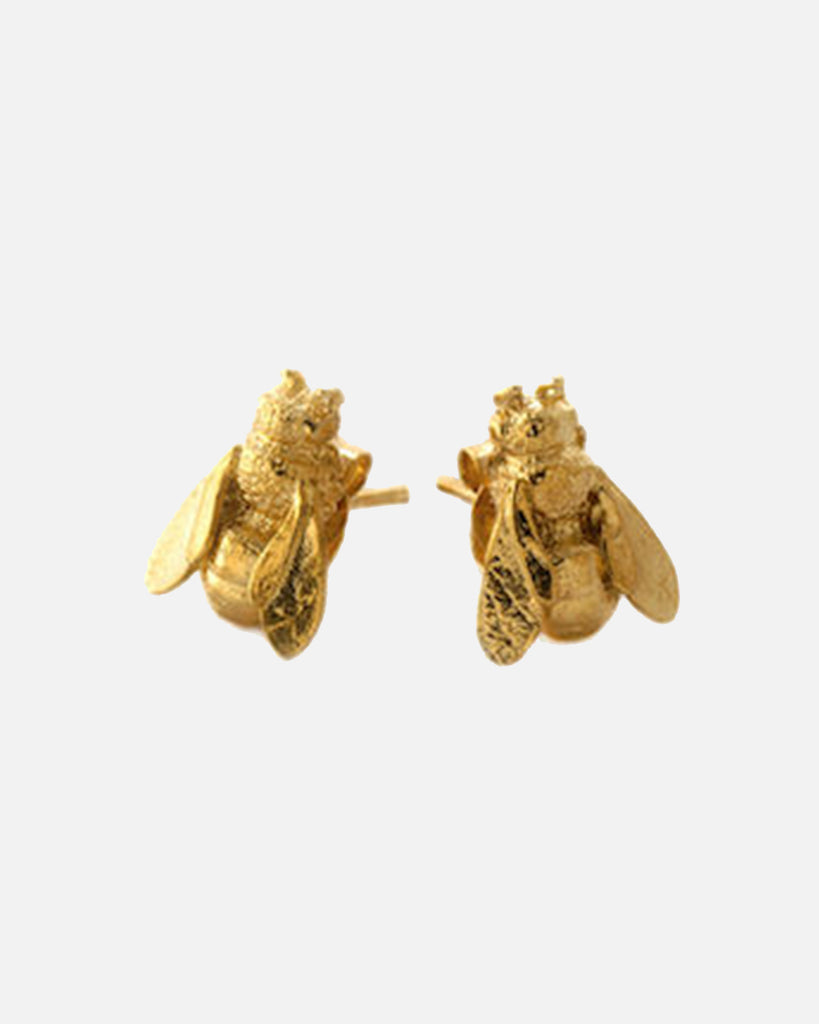 Honeybee Stud Earrings - Gold Plate