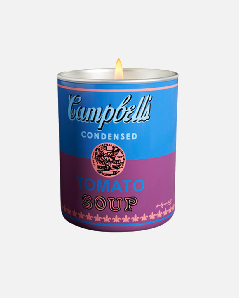 Andy Warhol Campbell Blue/Purple Candle