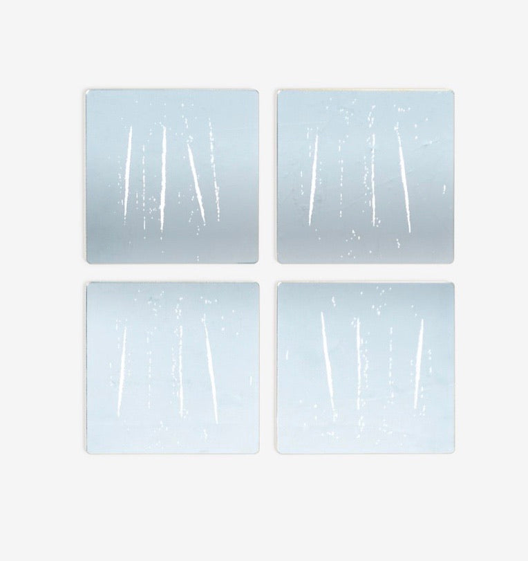 """The Night You Left"" Nir Hod Coasters - Silver"