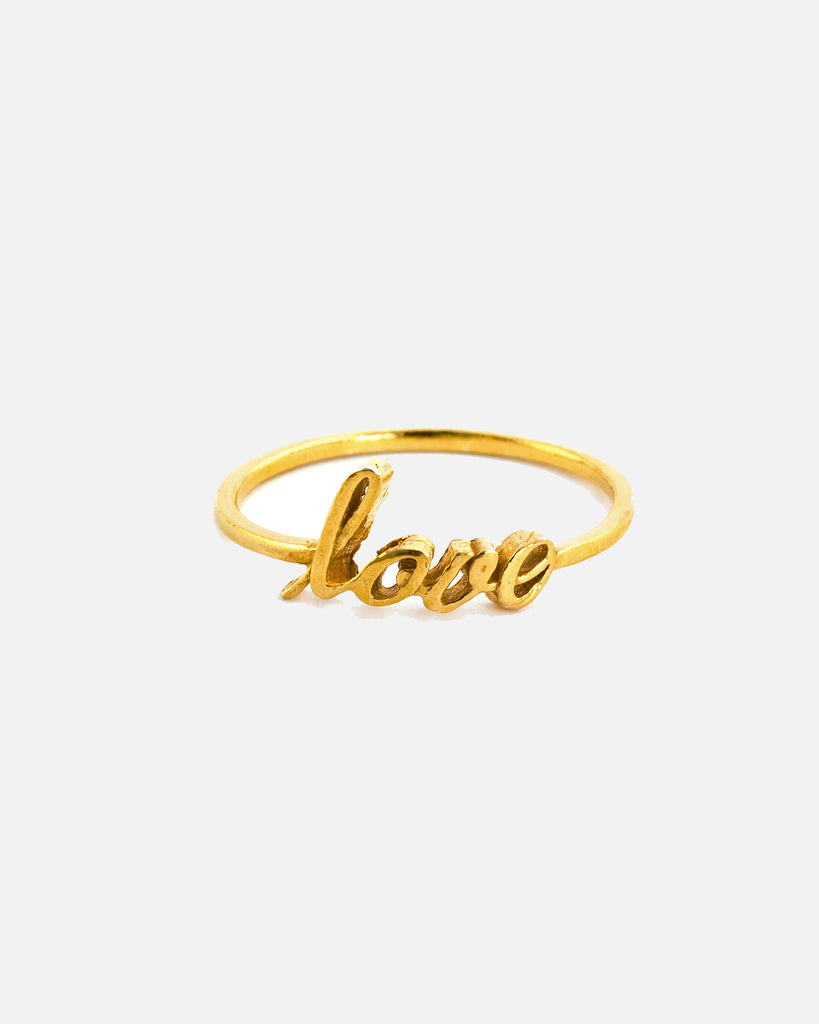 Fine Love Ring - Gold Plate