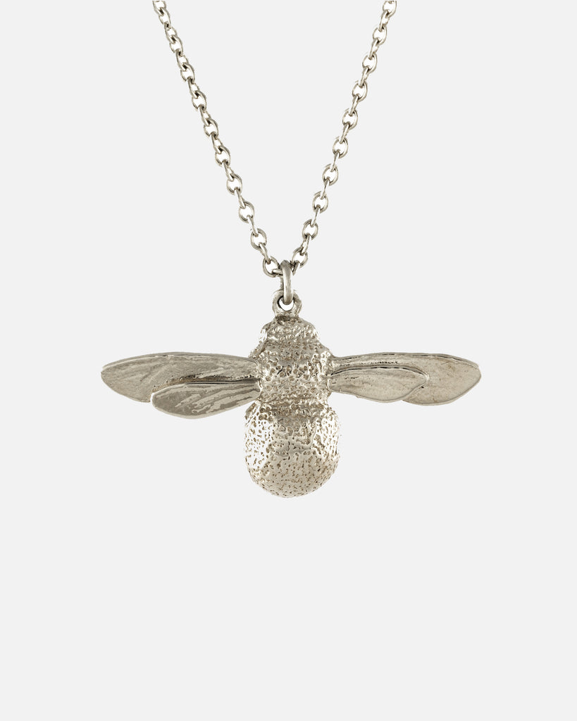 Baby Bee Necklace - Silver