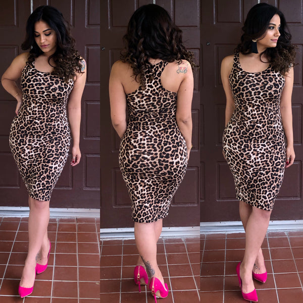 Racer Back Leopard Dress