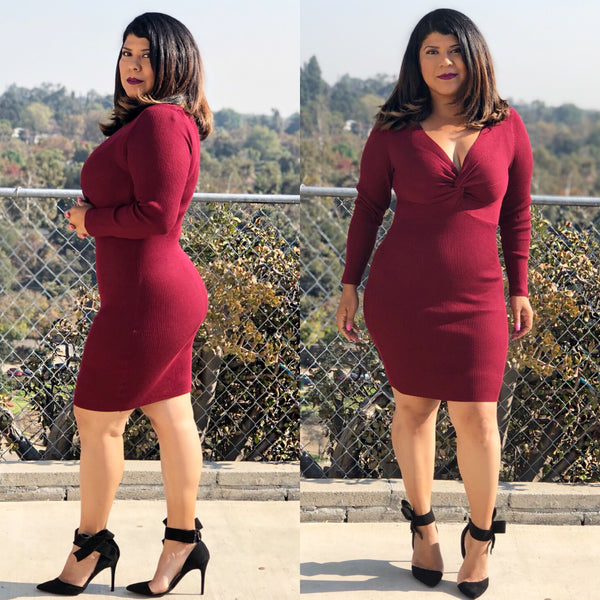 Tatiana Dress (burgundy)
