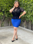 Bandage Mini Skirt (royal blue )