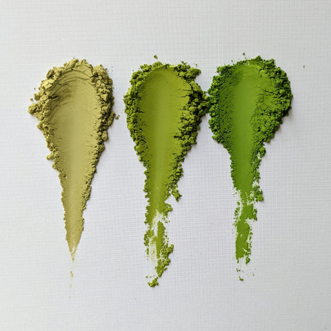 comparison of matcha quality side by side