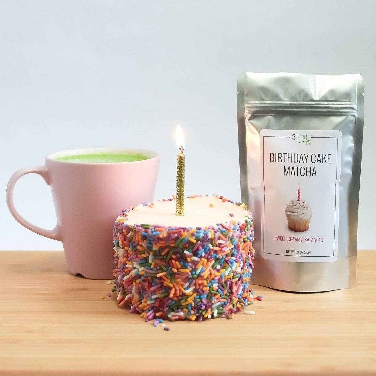 Birthday Cake Matcha | 3 Leaf Tea | Flavored Japanese Green Tea