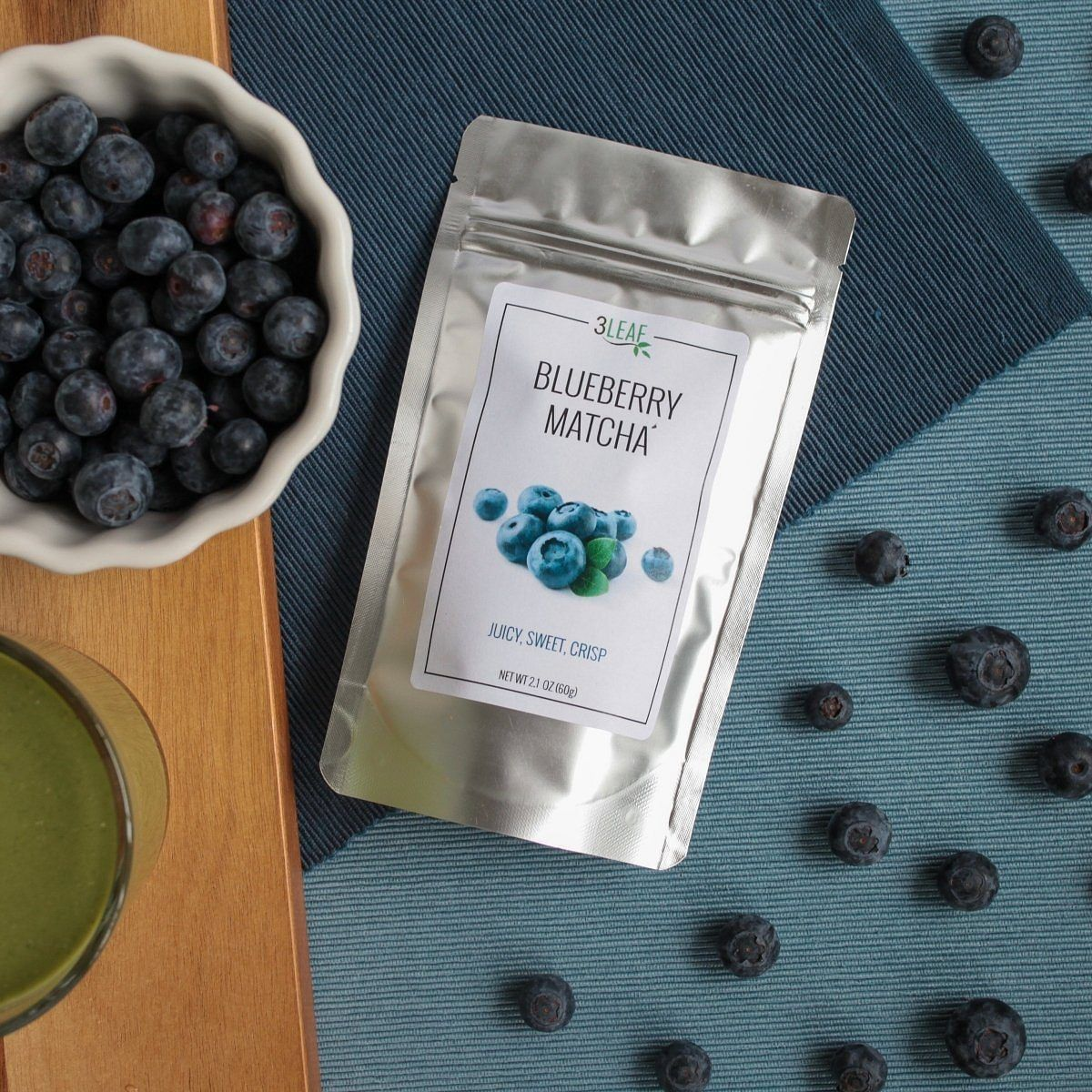 Blueberry Matcha | 3 Leaf Tea | Flavored Japanese Green Tea