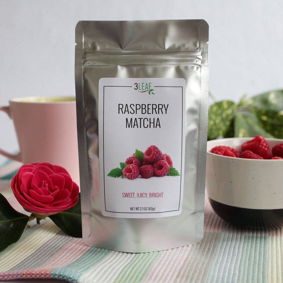 Raspberry Flavored Matcha - 3 Leaf Tea