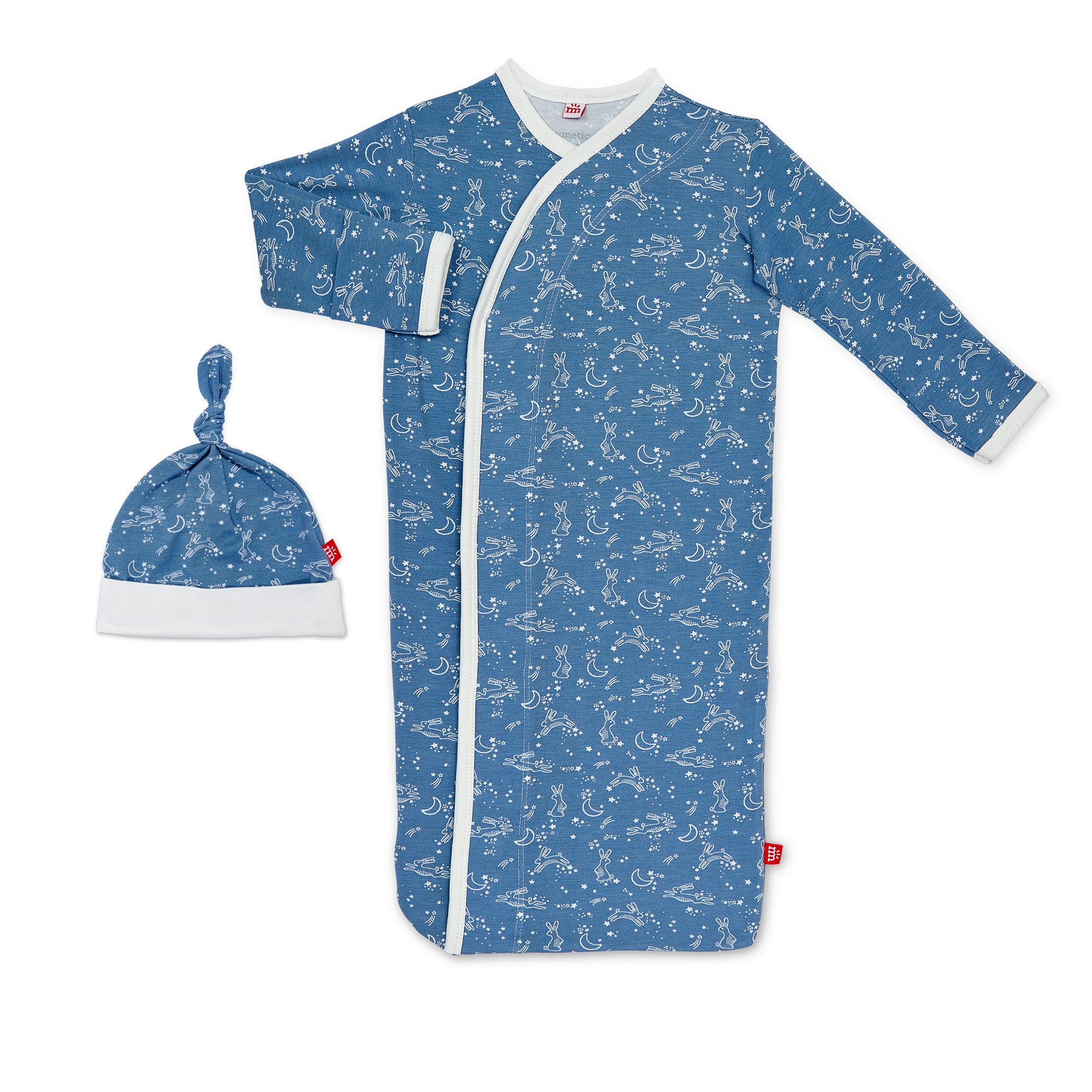 BLUE SKY BUNNY MODAL MAGNETIC SACK GOWN