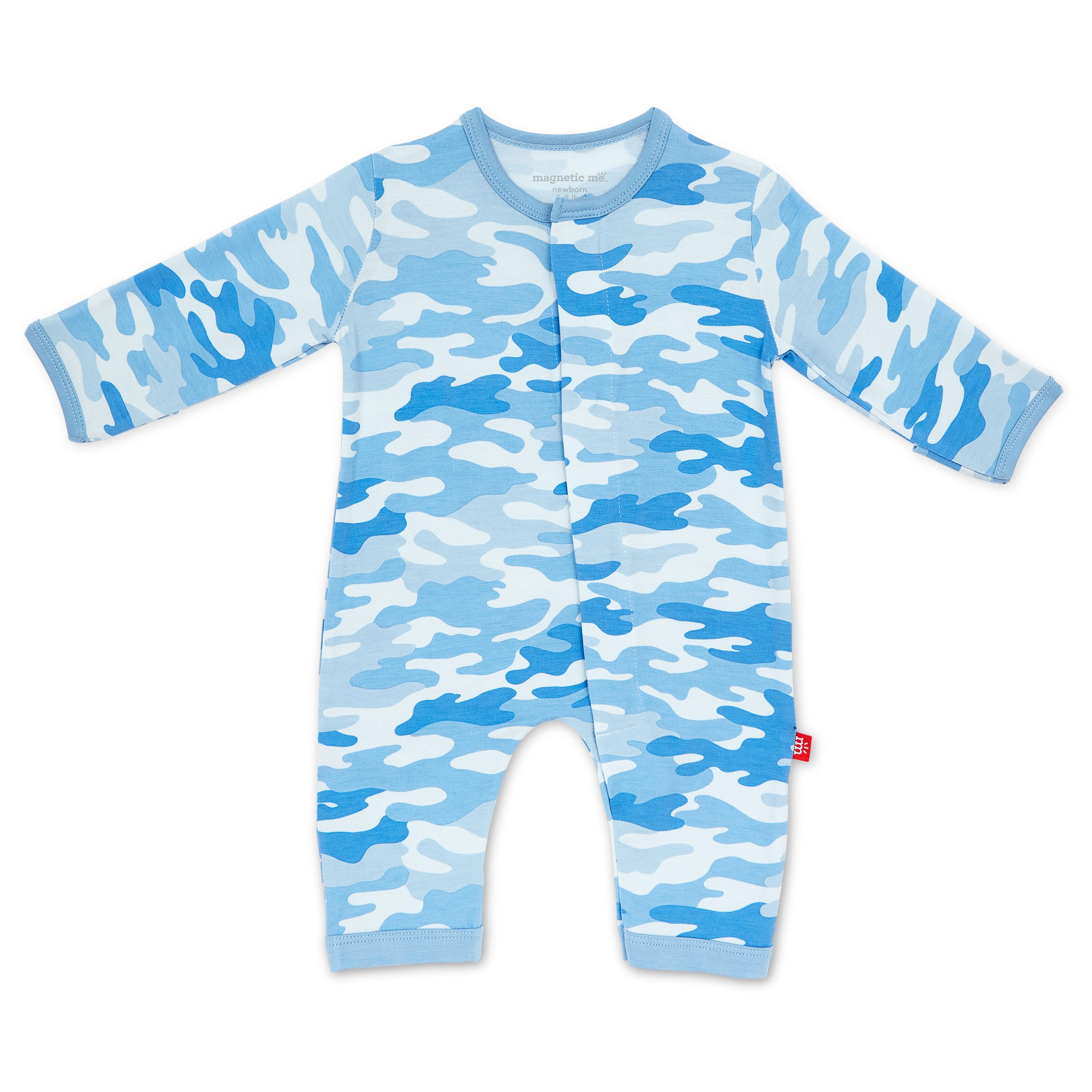 BLUE CAMO CHIC MODAL COVERALL 3-6M