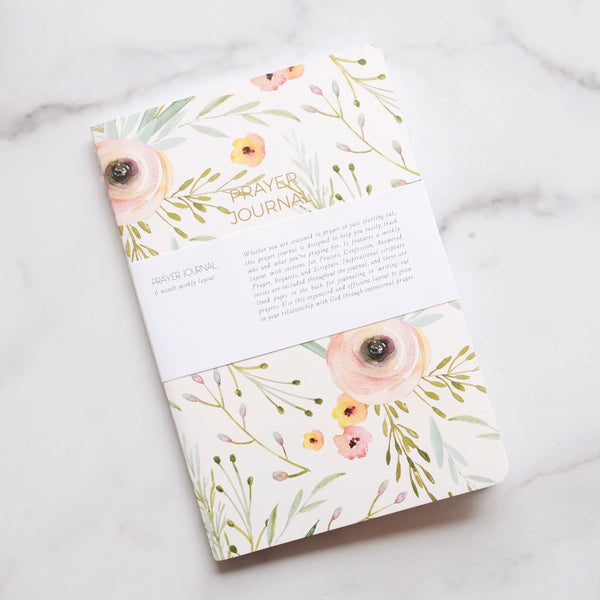 FLORAL 6 MONTH PRAYER JOURNAL