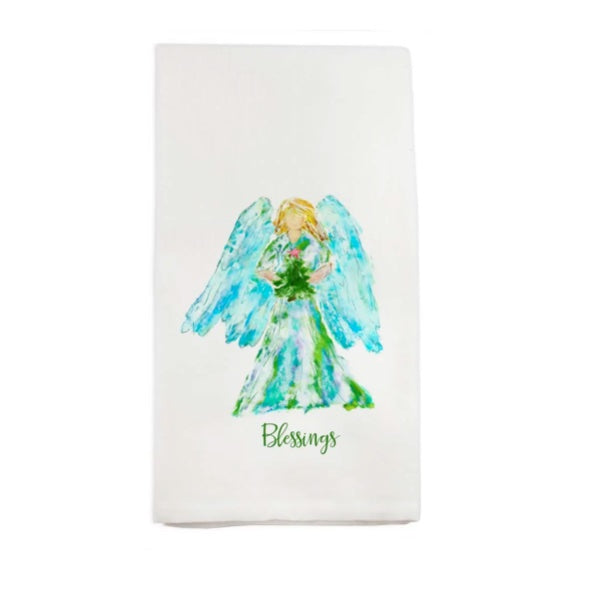 HOLIDAY ANGEL TEA TOWEL