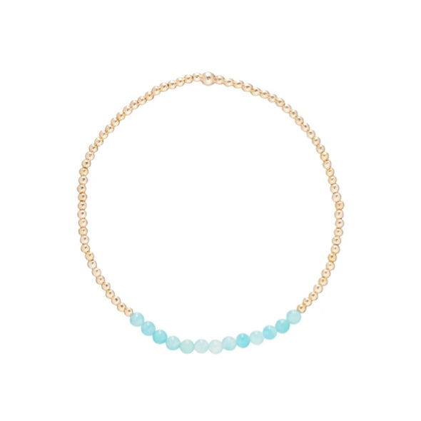 GOLD BLISS 2MM BEAD BRACELET- AMAZONITE