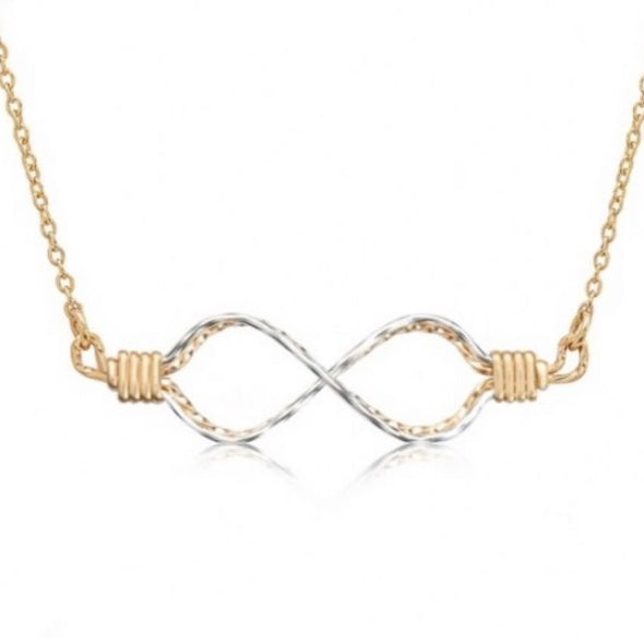 INFINITY NECKLACE - TWO TONE