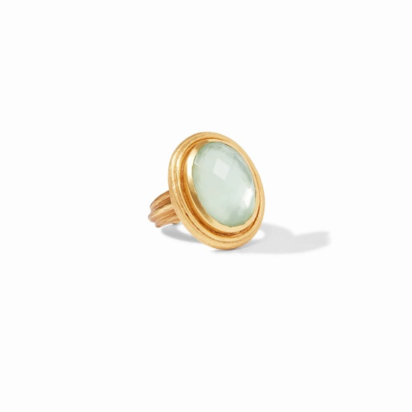 BARCELONA STATEMENT RING - IRIDESCENT SEAGLASS GREEN