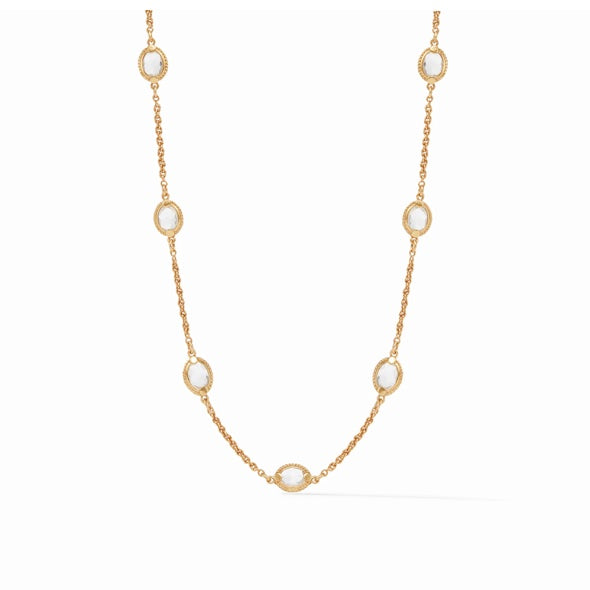 CALYPSO DEMI DELICATE NECKLACE - CRYSTAL CLEAR